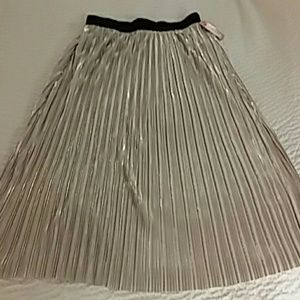 Xhilaration Silver pleated skirt